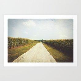 Indiana Corn Field Summers Art Print