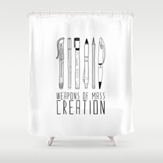 weapons of mass creation Shower Curtain