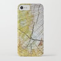 tree rings iPhone & iPod Cases featuring Tree rings by Nuria Talavera
