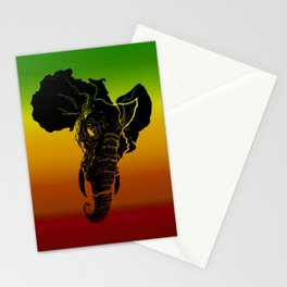 Rasta African Elephant Stationery Cards