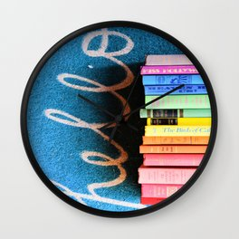 Hello Book Rainbow Wall Clock