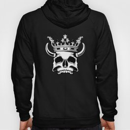 horned and crowned skull illustration Hoody