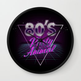 80's Party Animal Wall Clock