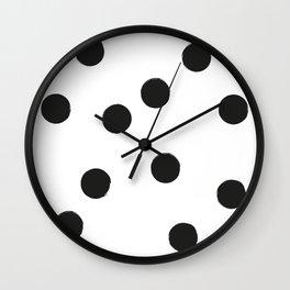 BIG BLACK DOTS Wall Clock