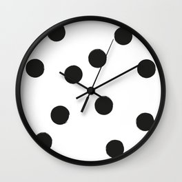 BIG BLACK DOTS Wall Clock