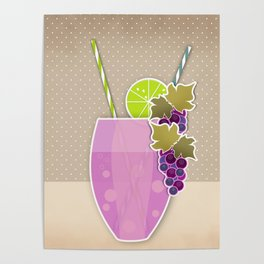 """Picture. The grape juice. From a set of paintings. The """"kitchen"""". Poster"""