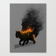 This Cat Is On Fire! Canvas Print