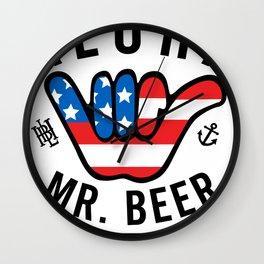 Hoppy Beer Hoppy Life Aloha Wall Clock