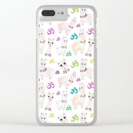 Llama-ste Clear iPhone Case