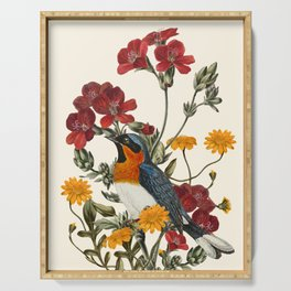 Little Bird and Flowers Serving Tray