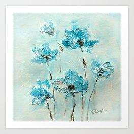 Flowers (in acrylic paint) Art Print