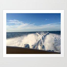 Ocean Boating Art Print