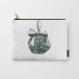 Kiss Me Under the Mistletoe Carry-All Pouch