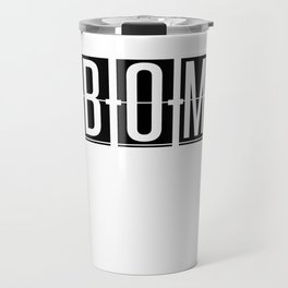 BOM  - Mumbai - India - Airport Code Souvenir or Gift Design  Travel Mug