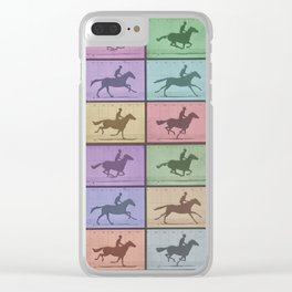 Time Lapse Motion Study Horse Color Clear iPhone Case