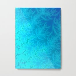 Frosted Hearts - Fractal Art Metal Print