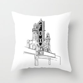 Fox Theatre ATL Throw Pillow