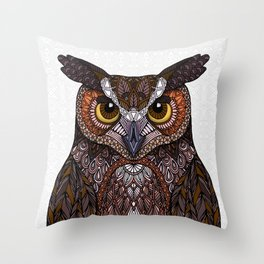Great Horned Owl 2016 Throw Pillow