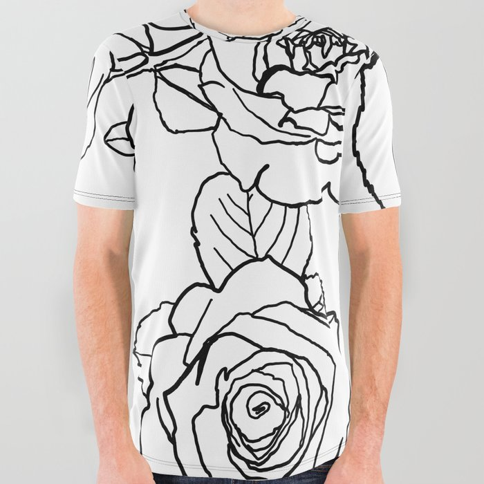 Feminine_and_Romantic_Rose_Pattern_Line_Work_Illustration_All_Over_Graphic_Tee_by_Art_by_Raylie__Large