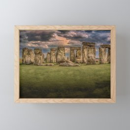 Stonehenge Panoramic Landscape Framed Mini Art Print