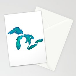 watercolor Great Lakes Stationery Cards