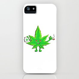 Funny Marijuana Leaf for 420 Weed Smokers iPhone Case