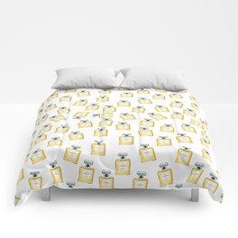 Classic Yellow Parfum Pattern Comforters