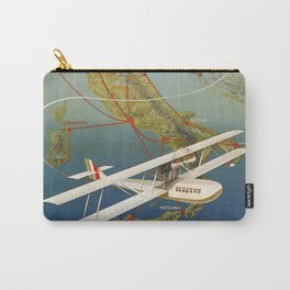 Vintage 1920s Island plane shuttle Italian travel Carry-All Pouch