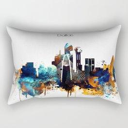Dallas Texas watercolor print skyline Rectangular Pillow