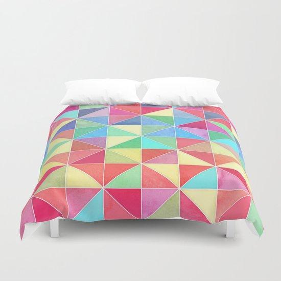 Rainbow Prisms Duvet Cover