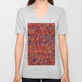 Maximalist Textile Pattern Unisex V-Neck