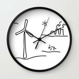 new energy environment Wall Clock