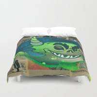 devil Duvet Covers featuring Devil Boy by Beery Method