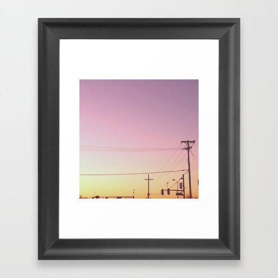 Sunrise Sunset Framed Art Print
