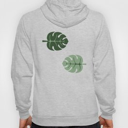 Tropical leaves Monstera deliciosa pistácio and pink #monstera #tropical #leaves #floral Hoody