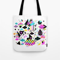 gravity Tote Bags featuring Gravity by Muxxi