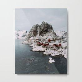Winter in Hamnøy, Norway Metal Print