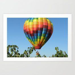 Balloon and Wine Case Art Print