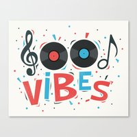 good vibes Canvas Prints featuring Good Vibes by Word Quirk