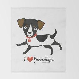I love farmdogs Throw Blanket