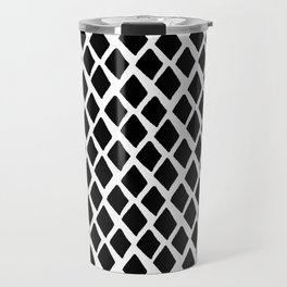 Rhombus Black And White Travel Mug