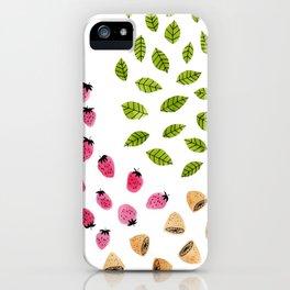 Strawberries Lemons & Leaves iPhone Case