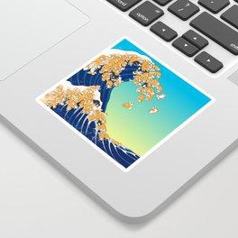 Shiba Inu in Great Wave Sticker