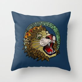 Bold as Lions Throw Pillow