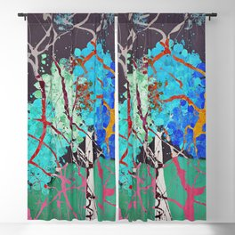 Spirit Tree Abstract Blackout Curtain