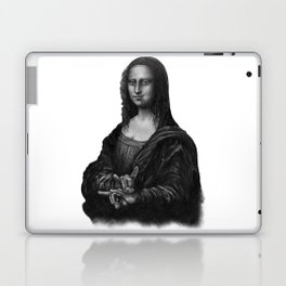 Mona Lisa With Sign Of The Horns Laptop & iPad Skin