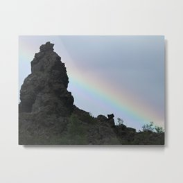 Rainbow at Dimmuborgir Metal Print
