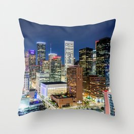 Downtown Houston Skyline from above! Throw Pillow