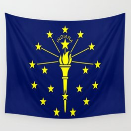 flag indiana,midwest,america,usa,carmel, Hoosier,Indianapolis,Fort Wayne,Evansville,South Bend Wall Tapestry