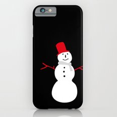 Christmas Snowman-Black iPhone 6s Slim Case